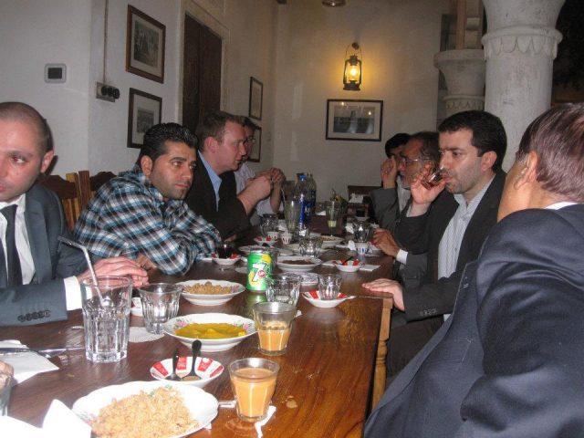 Dinner Honor of Dr Peiler & Mr Andreas 2012